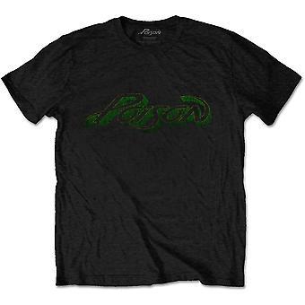 Poison - Vintage Logo Unisex Medium T-Shirt - Black