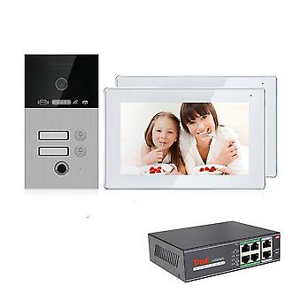 Wireless Ip Video Intercom For Apartment Villa Fingerprint Password Unlock