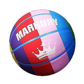 Kleurrijke regenboog paneel verordening mini rubber basketbal voor training schieten (GROUP1)