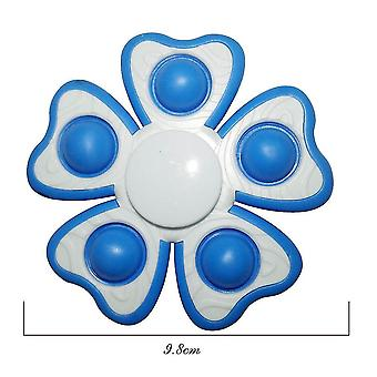 4pcs Flower Finger Spinner Anxiety Relief Toys Push Pop Bubble Key Clip