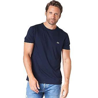 Lacoste Pima Puuvilla Jersey T-paita - Tummansininen