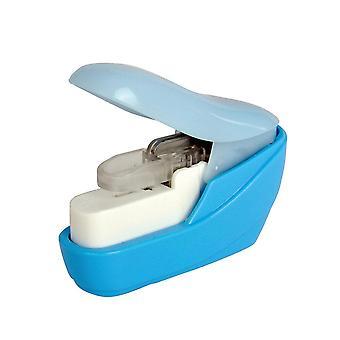 No Nails Stapling Machine Mini Book Stapler Portable No Stapleless Stapling Tool 1Pc Random Color