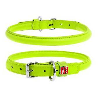 Collar Leather Glamour Collar Round Green (Dogs , Collars, Leads and Harnesses , Collars)