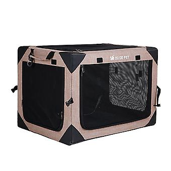 Portable pet travel carrier cage