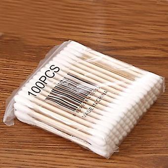 Laatikko Bambu Vauva PuuvillaPyyhe PuuPuikot Pehmeät Puuvillan silmut Korvien puhdistus