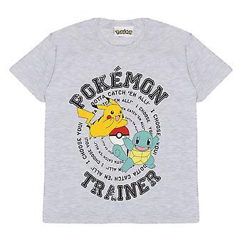 Oficjalny trener Pokemon dla dzieci Catch Em All T-Shirt Boys Girls Pikachu Squirtle