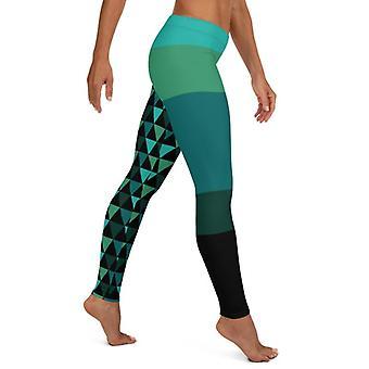 Geometric Capris And Shorts Leggings
