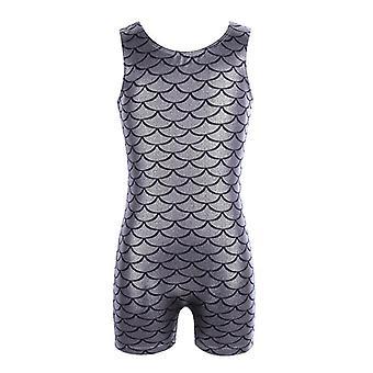 ملابس السباحة بلا أكمام جداول براقة المطبوعة Jumpsuit الرقص ارتداء
