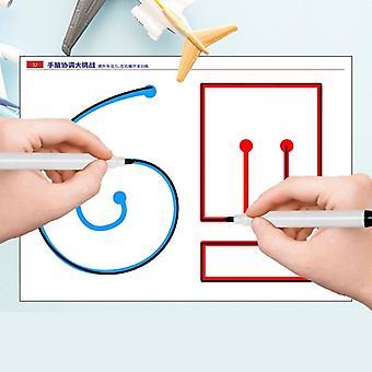 Preschool Children Left Right Brain Training Teaching Aids Pen Orbit Training Concentration Fine