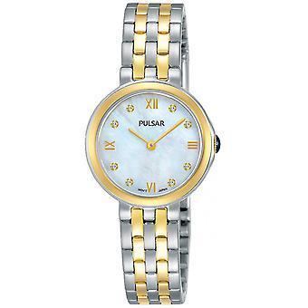 Pulsar gold din oțel inoxidabil PM2244X1 ceas pentru femei