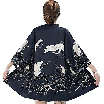 Apanese Kimono Cosplay Traditionnel Yukata Femme Obi Haori Vêtements Japonais