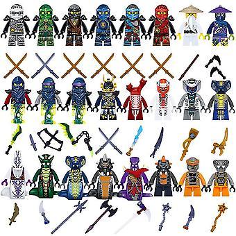 24st / Set Plastic Mini Ninjago Snakes Warrior Figurer Diy Leksaker