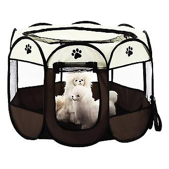 8 Panel Mesh House Foldable Pet Tent For Dogs Cats Rabbits