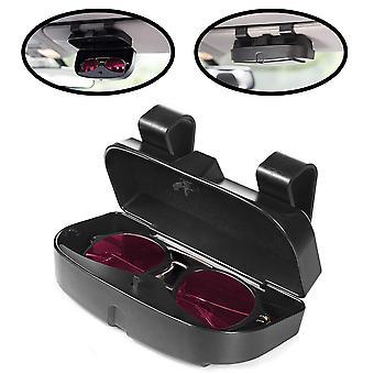 車のサンバイザーサングラスケースホルダー、眼鏡オーガナイザーボックス付き