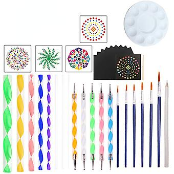 36 Piece Set Datura Auxiliary Painting Template Tool Stone Spray Wall Painting Hollow Template Brush Tool