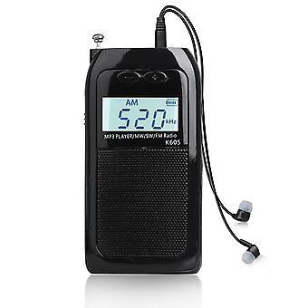 Mini digitale fm/am/sm 3 band pocket radio draagbare digitale radio