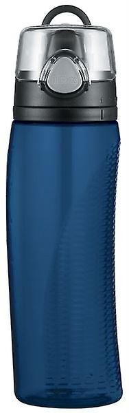 Thermos Midnight Blue Hydration Drinks Water Cosumption monitor Bottle 710ml