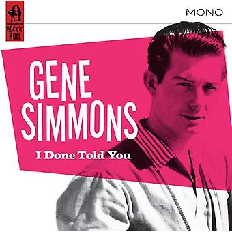 Gene Simmons - Done Told You [CD] USA import
