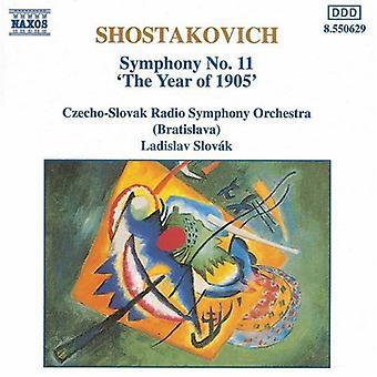 D. Shostakovitshin - Šostakovitš: Sinfonia nro 11 (vuoden 1905) [CD] Yhdysvallat tuoda