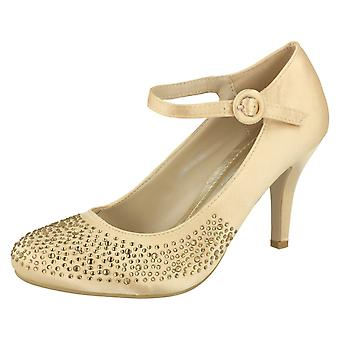 Kära Anne Michelle krängt Party sko med Diamante detalj och fotled spänne infästning
