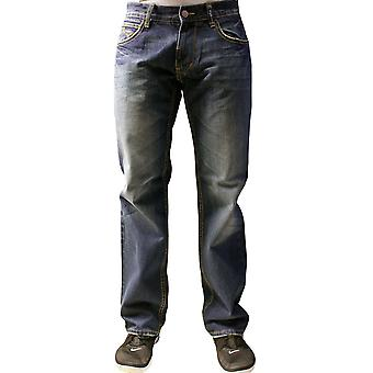 الأساسية lrg صندوق مجموعة جينز مستقيم صحيح الظلام أغسل نيلي
