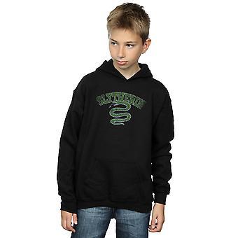 Harry Potter muchachos Slytherin deporte emblema sudadera con capucha