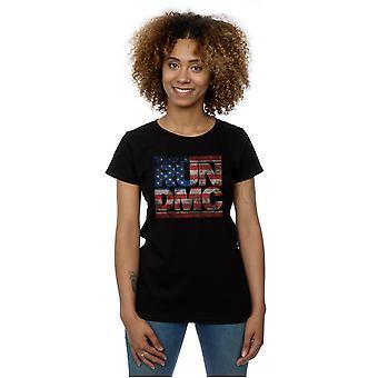 Run DMC Women's US Flag Logo T-Shirt
