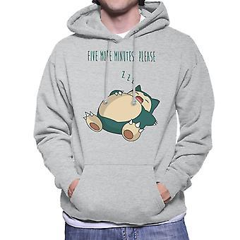 Pokemon snorlax öt perc alatt kérjük Men ' s kapucnis pulóver