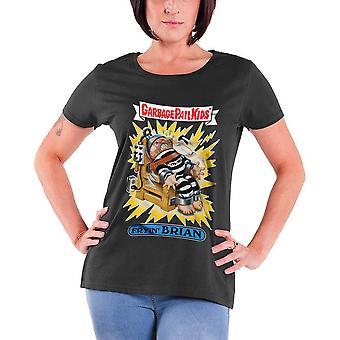 Garbage Pail Kids T Shirt Fryin Brian neue offizielle Womens Skinny Fit grau