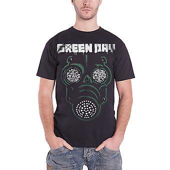 Green Day T Shirt Green Gas Band Logo Official Mens Black