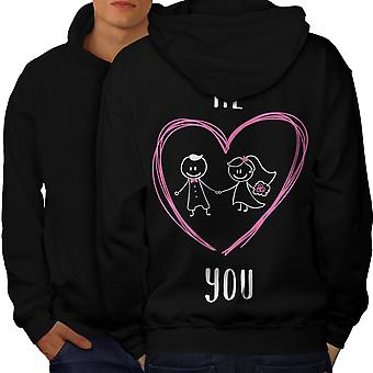 Me You Together Wedding Men BlackHoodie Back | Wellcoda