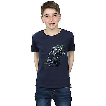 Marvel drenge sort panter vilde silhuet T-Shirt