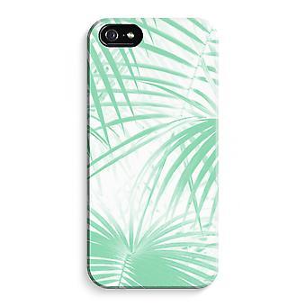 iPhone 5C koko Tulosta tapauksessa (kiiltävä) - palmunlehtiä