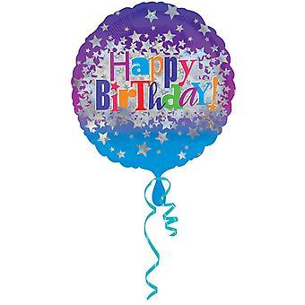 Amscan 18 polegadas feliz aniversário Bright Stars balão Circular da folha