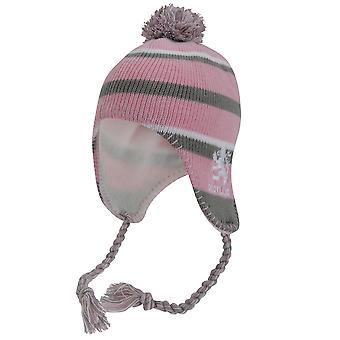 Ladies/Womens Scotland Lion Pink Winter Hat, Thermal Peruvian Hat With Tassels