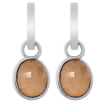 Orphelia Silver 925 Earring Oval Rose Sheet  ZO-6040/1