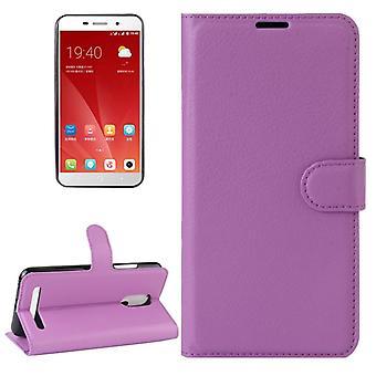 Pocket plånbok premium lila för ZTE blade A602 skydd ärm fall täcka påse nya