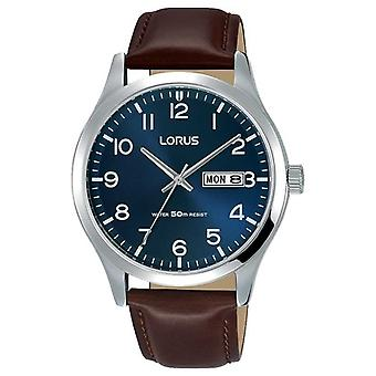 Lorus Mens Urban Dress Classic Brown Leather Strap RXN49DX9 Watch