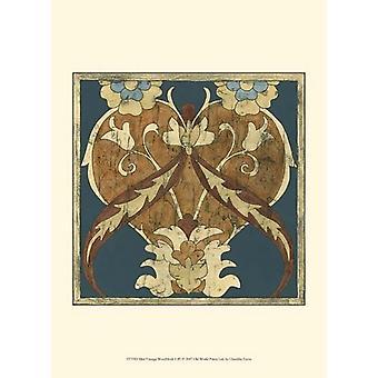 Mini Vintage Woodblock I Poster Print by Chariklia Zarris (10 x 13)