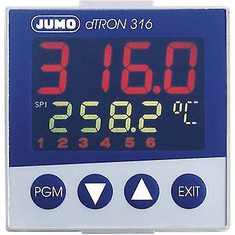 Jumo dTRON 316 PID temperatuur regelaar Pt100, Pt500, Pt1000, KTY11-6, L, J, U, T, K, E, N, S, R, B, C, D-200 tot + 2400 ° C 3 A estafette, analoge stroom (L