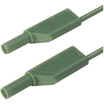 SKS Hirschmann MLS WS 200/2,5 gn Sikkerhetstestledning [Banankontakt 4 mm - Banankontakt 4 mm] 2,00 m Grønn