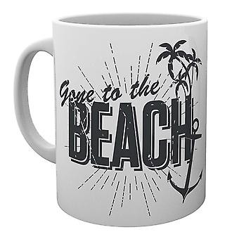 Tropische gegangen, um den Strand-Becher