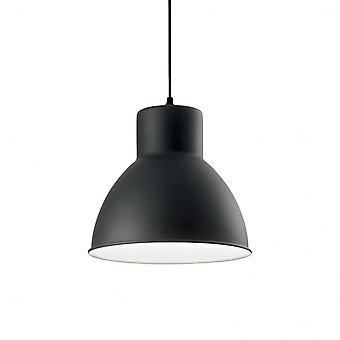 Ideal Lux Metro Single Pendant Light Black