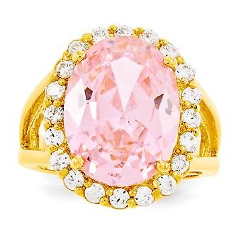 14k Gold Plated Simulated Kunzite Ring Jewelry Gifts for Women - Ring Size: 5 to 10