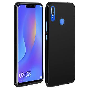 Husă din silicon, husă lucioasă și mată pe spate pentru Huawei P Smart Plus – Negru