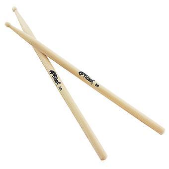 Tiger 5B Hickory Wood Tip Drumsticks - Pair