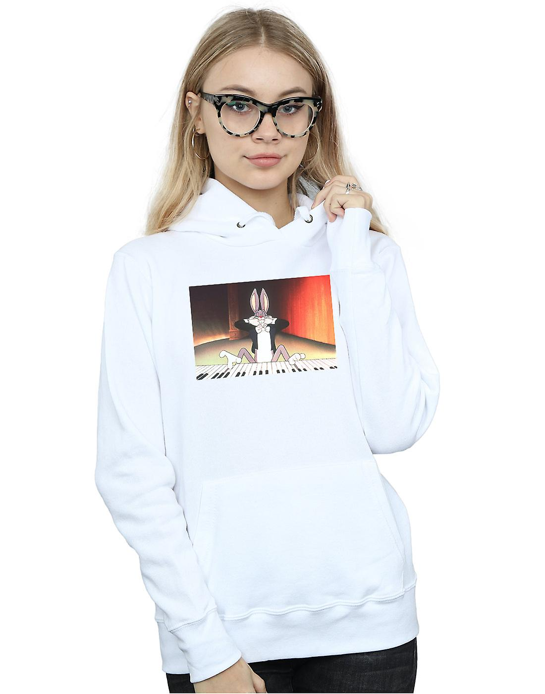 Looney Tunes Women's Bugs Bunny Playing Piano Hoodie