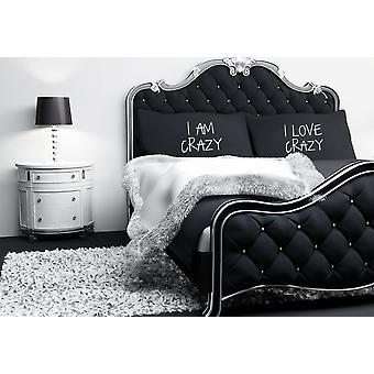Black I Am Crazy I Love Crazy Pillow Cases