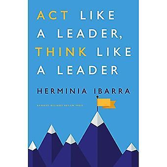 Handeling als een leider, denken graag een leider