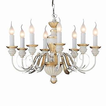 Ideal Lux - Firenze elfenben och guld åtta ljus ljuskrona IDL012872